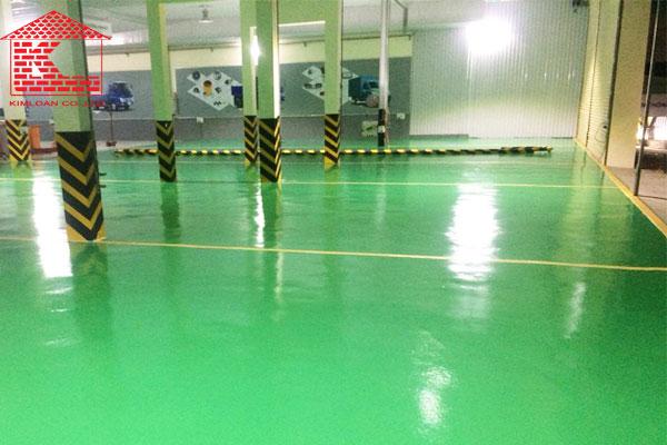 sơn epoxy sàn gara ô tô