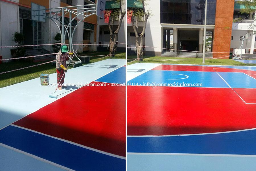 sơn sân bóng rổ ngoài trời