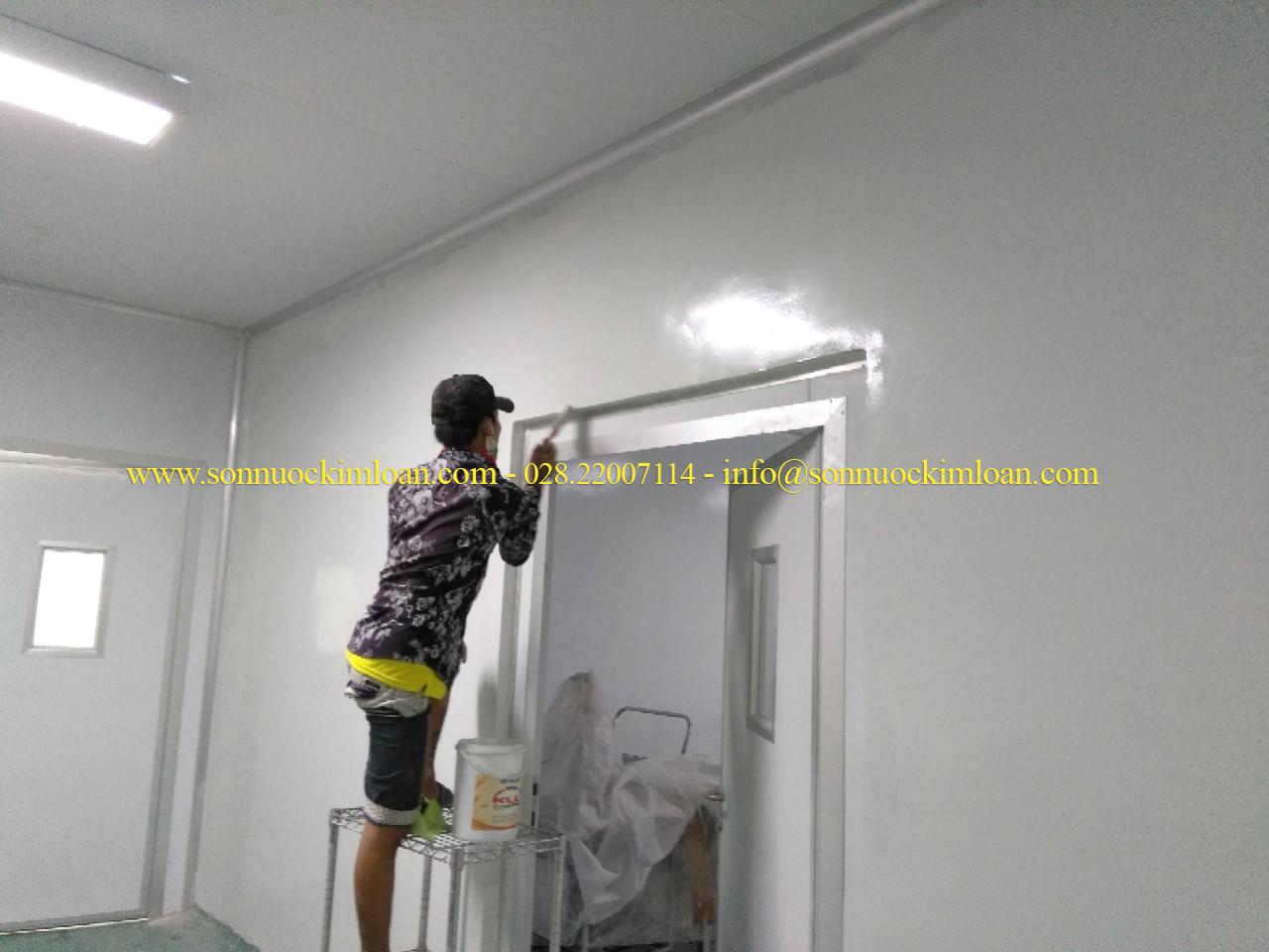 sơn tường epoxy cho nhà xưởng