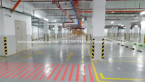 Sơn phủ epoxy KLC gốc nước- Sơn an toàn cho sàn nhà xưởng